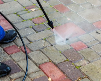 Block paving cleaning Camberley