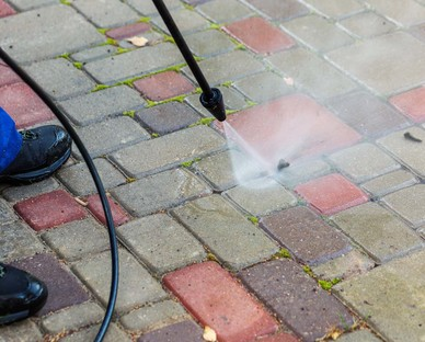 Block paving cleaning Surrey